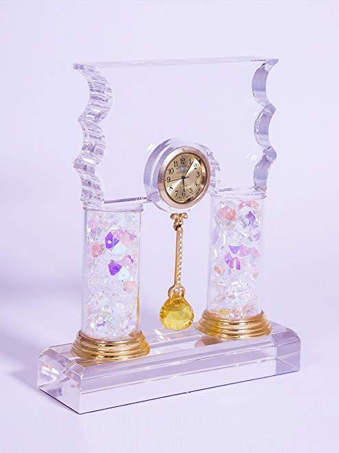 Crystal Pendulum Clock Masterpiece Gfit Idea interior decoration