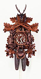 August Schwer Cuckoo Clock Hunting Clock, sitting Animals