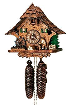 8-Day Black Forest House Wood Chopper Clock