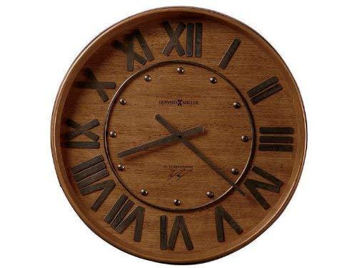 Wine Barrel Wall Clock by Howard Miller - Heirloom Oak Finish (625453)