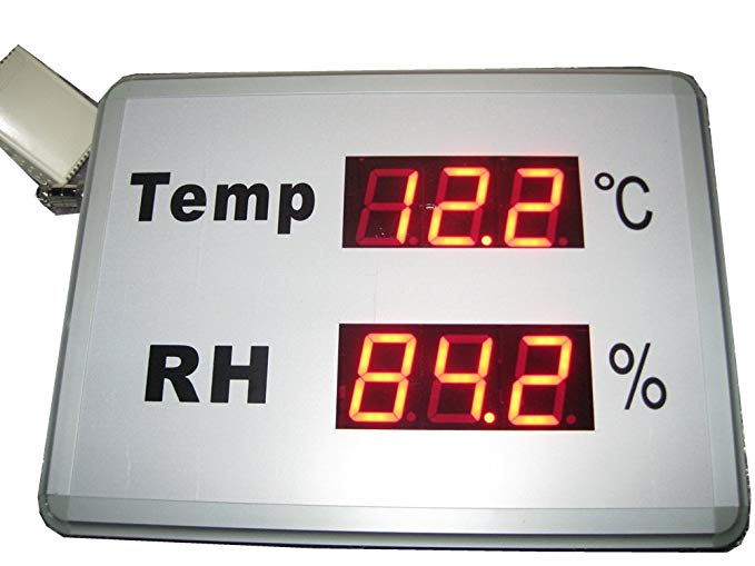 AZOOU LED Signs Display Humidity and Temperature Meters For Office Home