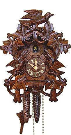 Anton Schneider Cuckoo Clock 8 Leaves, 3 Birds, Nest