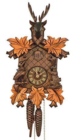 Anton Schneider Cuckoo Clock 5-leaves, head of a deer