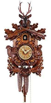 Adolf Herr Cuckoo Clock - The Hunting Scene Squirrels